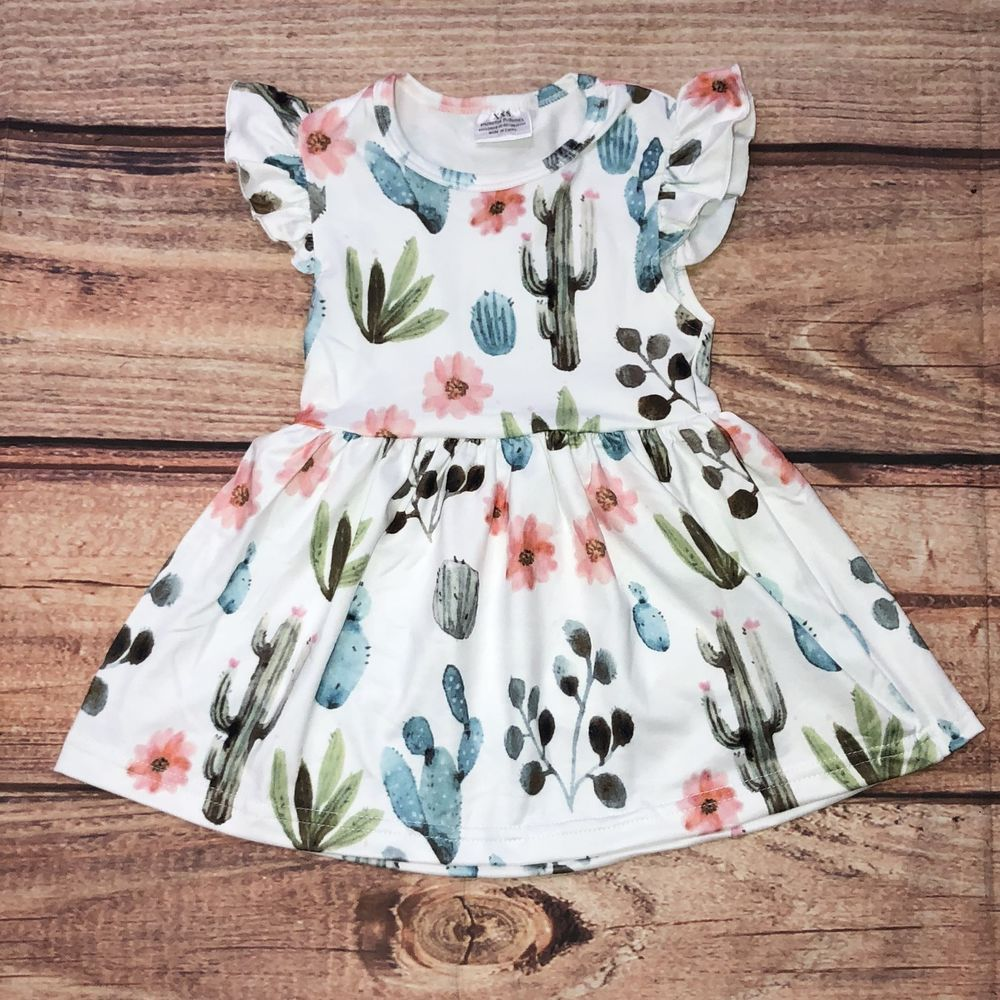 446dbad78c34 Southwestern Cactus and Floral Boutique Dress Girls size 4 5 6 7 8 sg elora  gch  Unbranded  DressyEverydayHolidayPageantParty