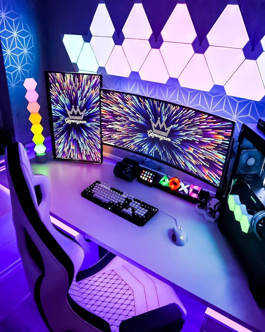 220 Gaming Room Setups Gaming Room Setup Video Game Room Design Video Game Rooms Bedroom gaming pc setup