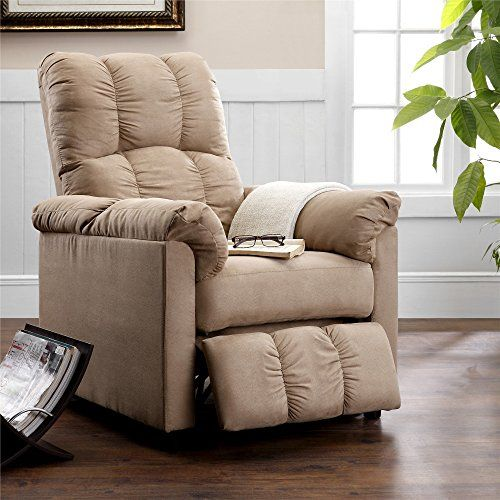 Offered In A Beige Microfiber The Slim Recliner Will Be A Perfect Addition To Your Living R Living Room Office Furniture Small Recliner Chairs Recliner Chair Living room furniture small recliner