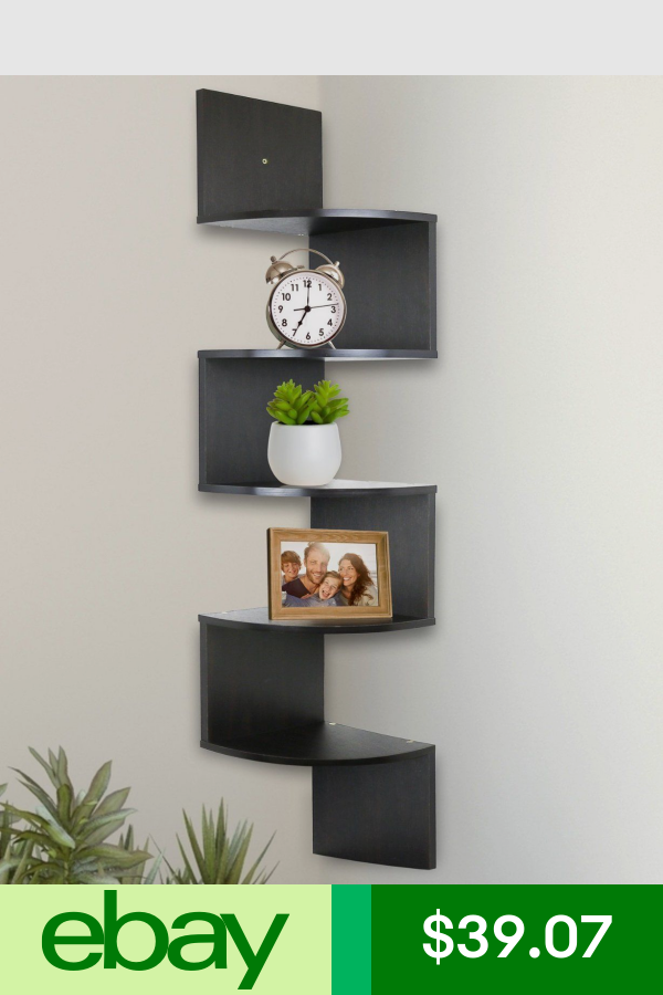 Wall Shelves Home Garden Ebay With Images Wall Mounted Corner Shelves Wall Shelves Design Corner Wall Shelves