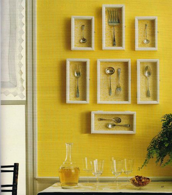 Inexpensive DIY Wall Art | Dining room art, Room art and Utensils