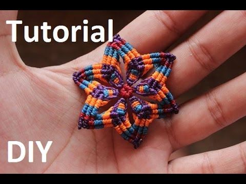 85209114f986 DIY Macramé Flower Earrings - Tutorial - YouTube