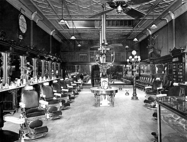 Man Cave Store Tampa : Florida memory interior view of barber shop tampa