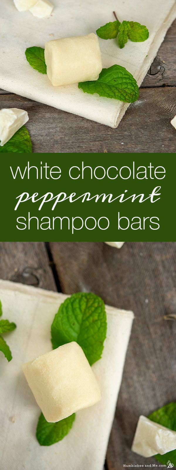 White Chocolate Peppermint Shampoo Bars #naturalhaircareproducts