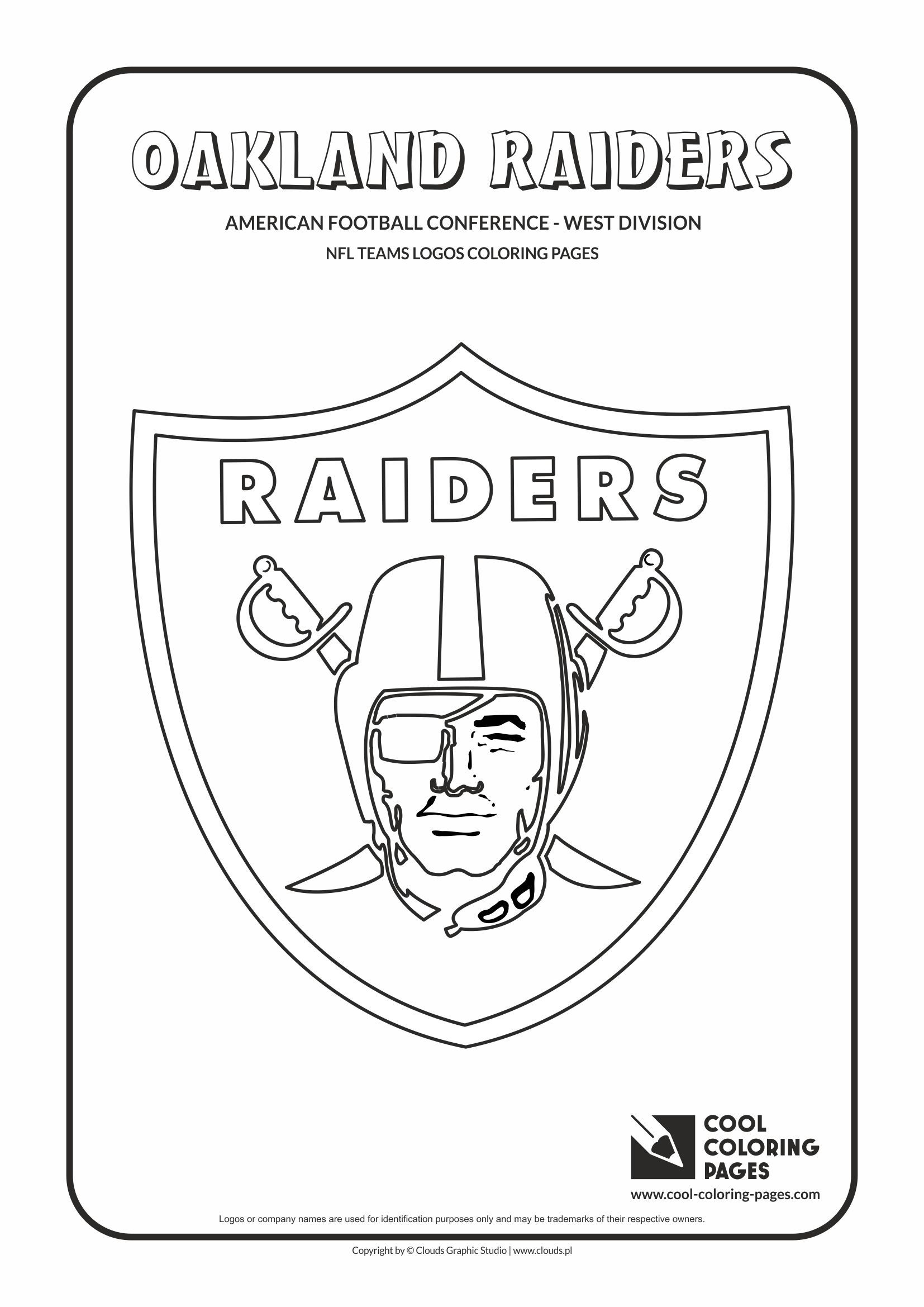 Oakland raiders logo coloring page coloring pages for Nfl team coloring pages