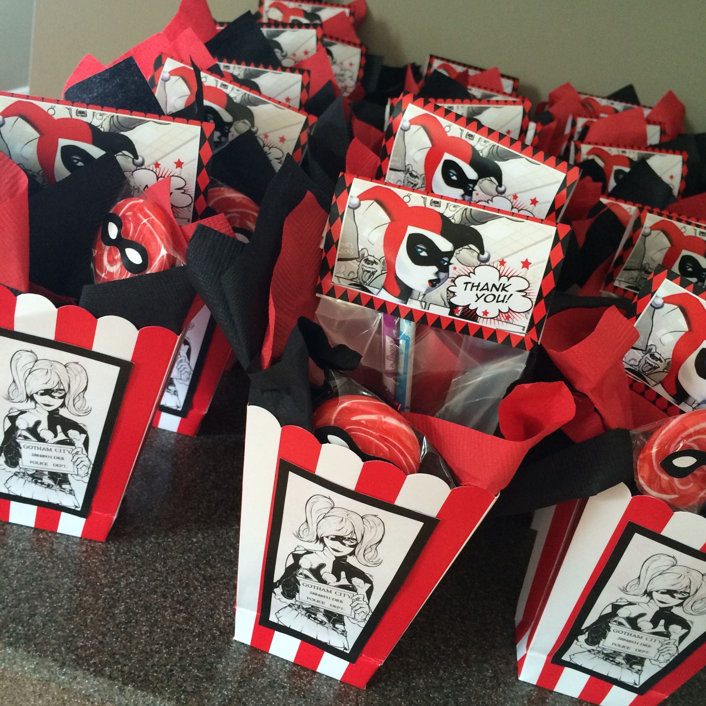 Made These Favor Boxes For My Sons Harley Party Super Easy