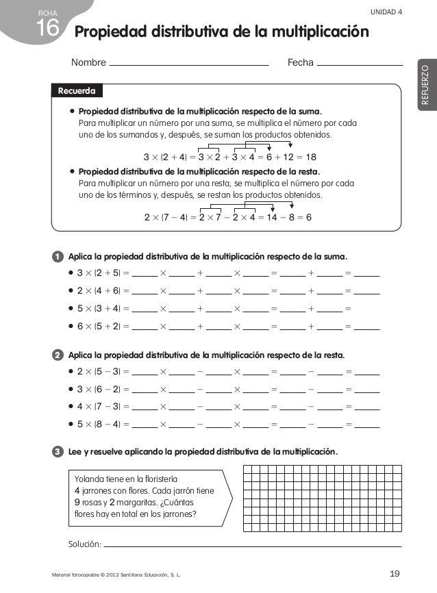 Refuerzo matemáticas 4º de primaria | Matemática | Pinterest ...