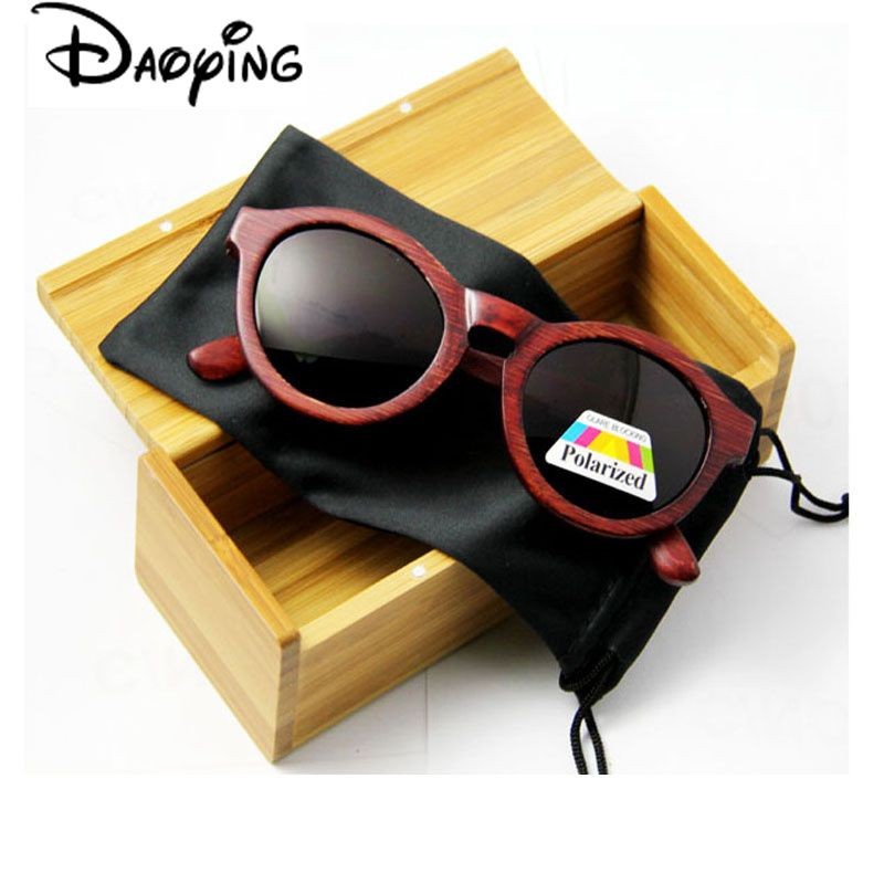 68b70dd8a88 DAOYING New Fashion Products Men Women Glass Polarized Bamboo Sunglasses  Retro Vintage Wood Lens Wooden Frame Handmade LUB132