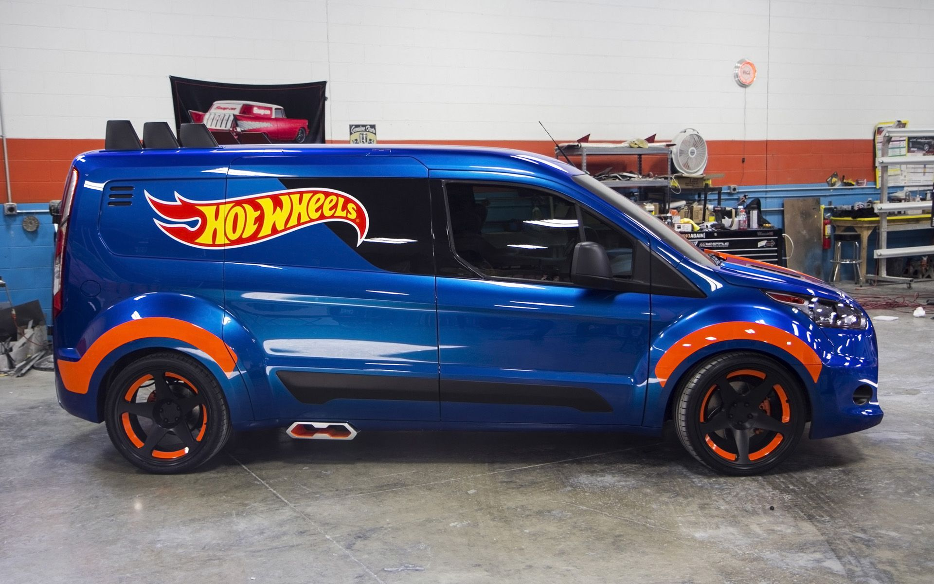 2014 Ford Transit Connect Hot Wheels Concept Static 7 1920x1200 Jpg 1920 1200 Ford Transit Hot Wheels Mini Van