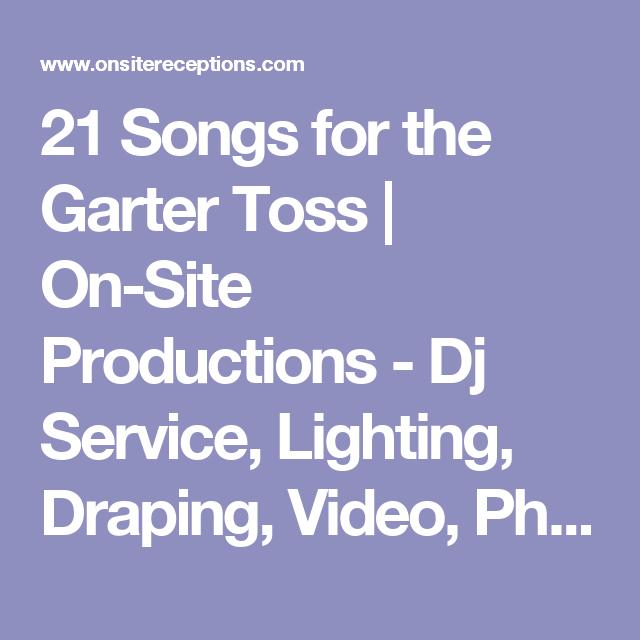 Wedding Garter Songs: 21 Songs For The Garter Toss