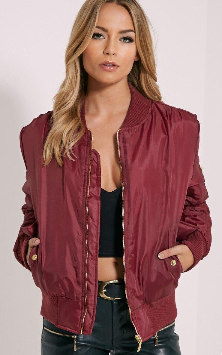 wine-bomber-jacket | Bomber Jacket | Pinterest | Jacket images ...