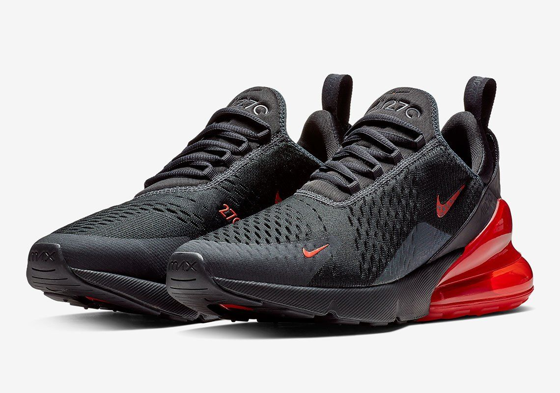 red and black nike air max 270