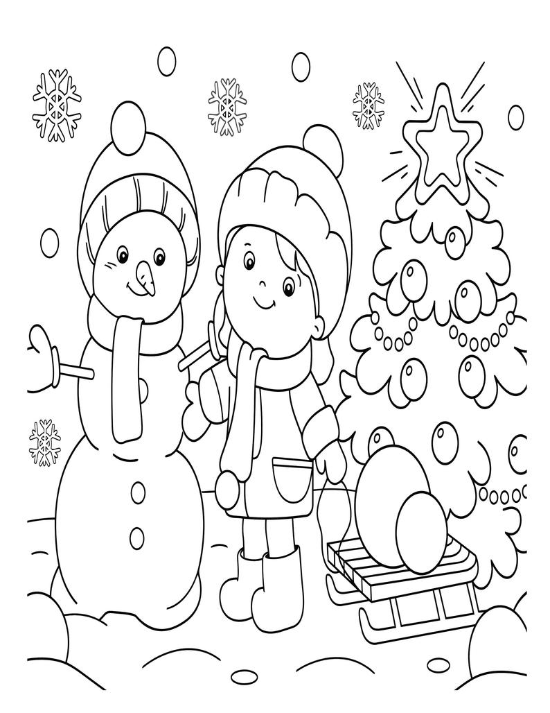 Printable Christmas Coloring Pages for Kids 18 Xmas Coloring ...