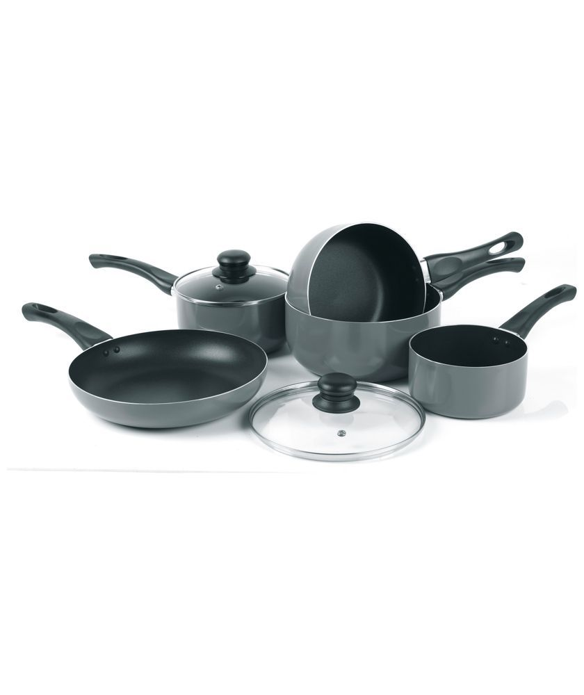 Buy Russell Hobbs 5 Piece Aluminium Pan Set At Argos Co Uk Your Online Shop For Pan Sets With Images Pan Sets Aluminum Pans Pan Set