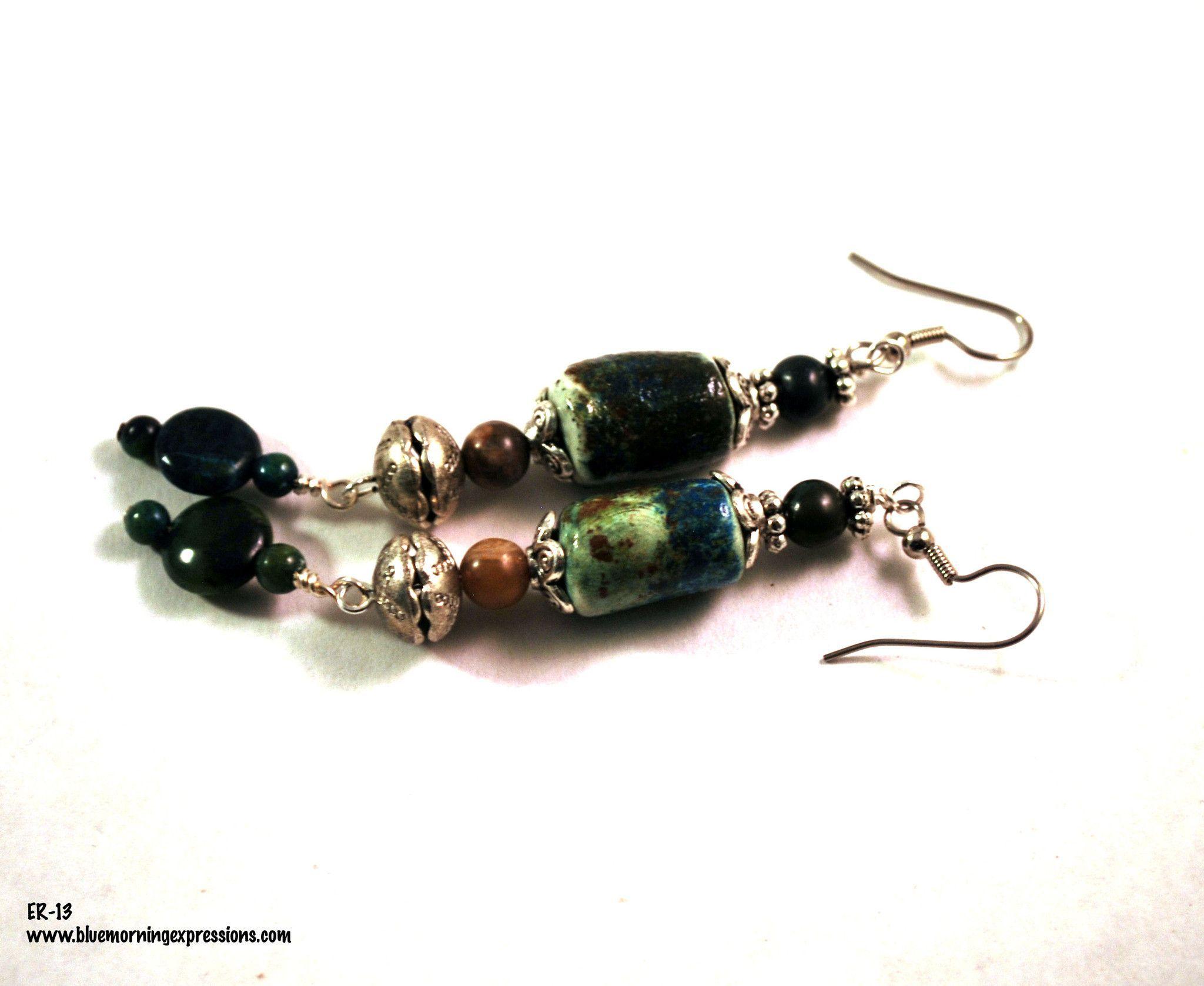 Earrings for Women, Dangle Earrings, Boho Earrings, Polymer Clay Earrings, Long Earrings, Bohemian Jewelry