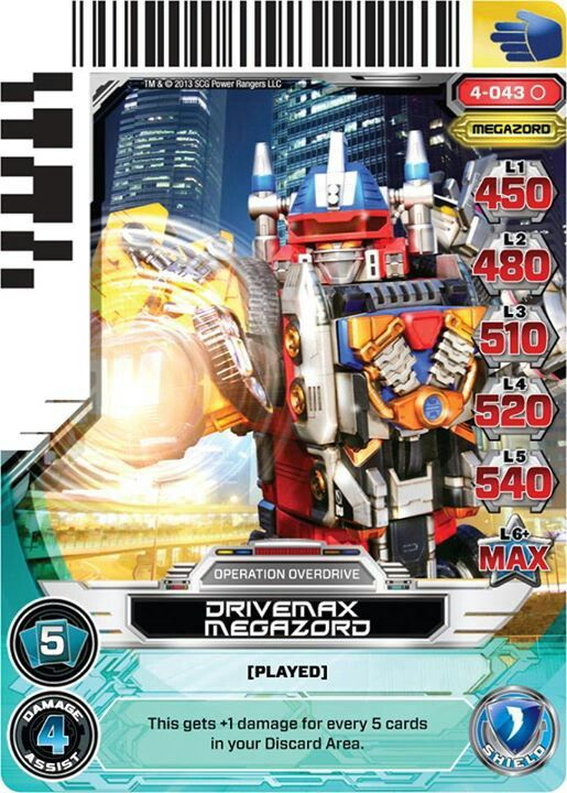 Drivemax Megazord Power Ranger Trading Card For Lil One Power