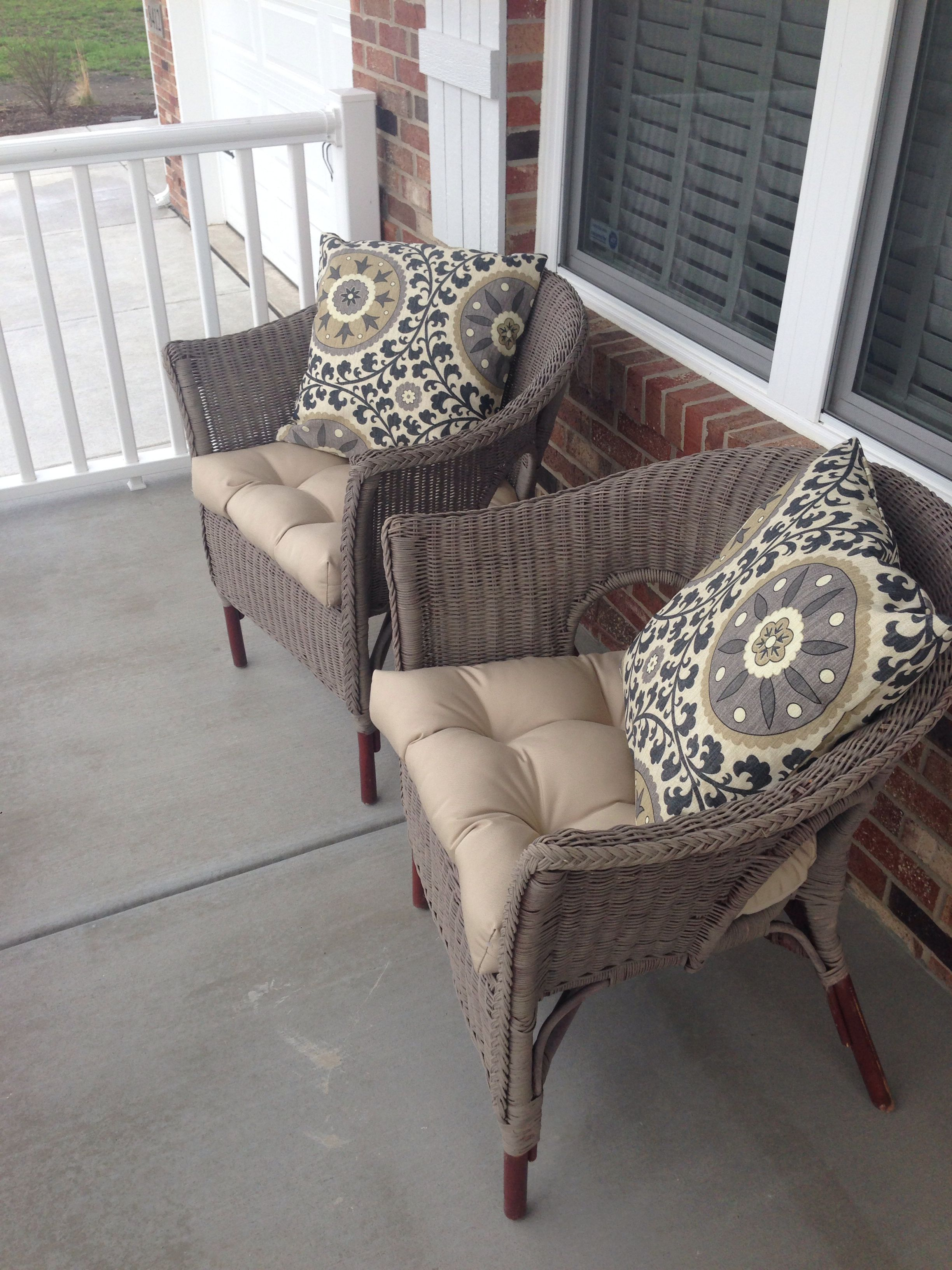 Chalk Painted Wicker Chairs Annie Sloan Paint Coco Second Project