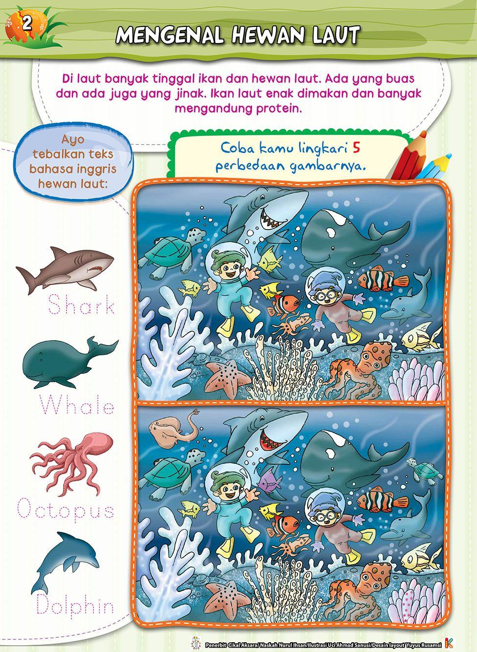 Buku Aktifitas Mencari Perbedaan Gambar Untuk Anak Tk Paud Bisa Meningkatkan Dan Merangsang Konsentrasi Anak Mengasah Daya Ingat Dan Ket Buku Buku Anak Hewan