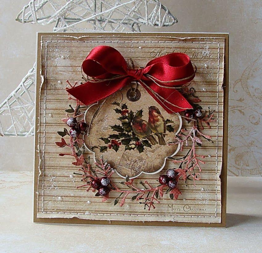 Открытки с рождеством ручной работы, открытки для