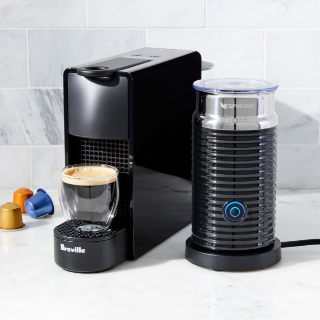 Nespresso By Breville Essenza Mini Black Espresso Maker Bundle Reviews Crate And Barrel Best Espresso Machine Nespresso Espresso Machine Reviews