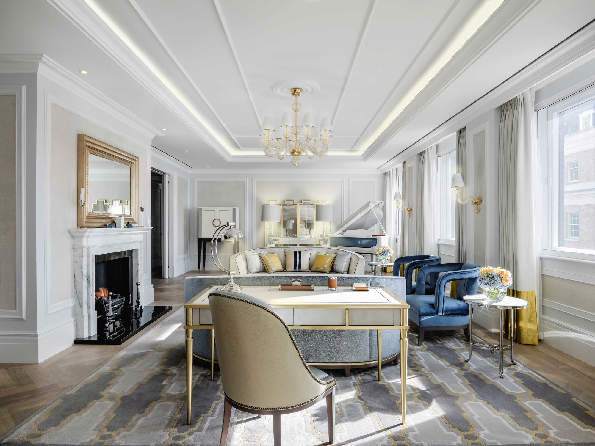 The Sterling Suite At The Langham London Design By Richmond International London With Ice