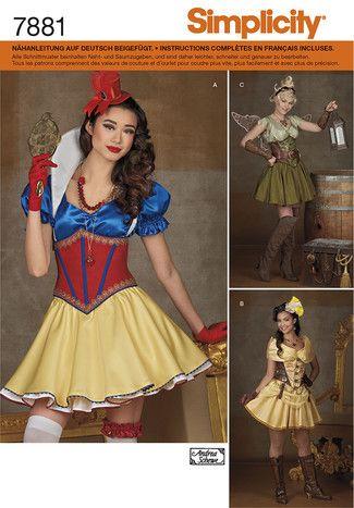 7881 env front | Fasching | Pinterest | Kostüme damen, Simplicity ...