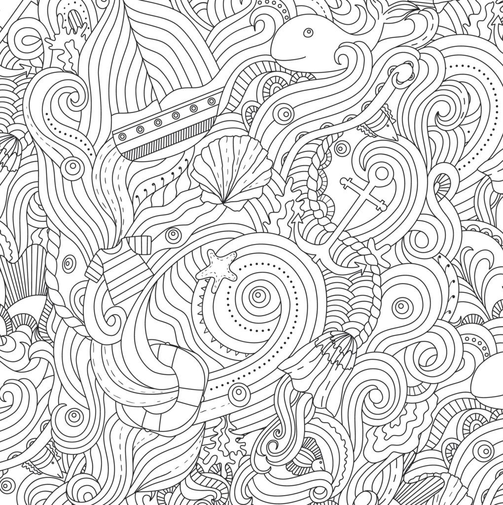 Ocean Color Page Ocean Coloring Pages For Adults Coloring Pages