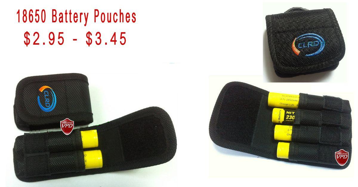 18650 Battery pouch Ecigarette batteries pouch Case
