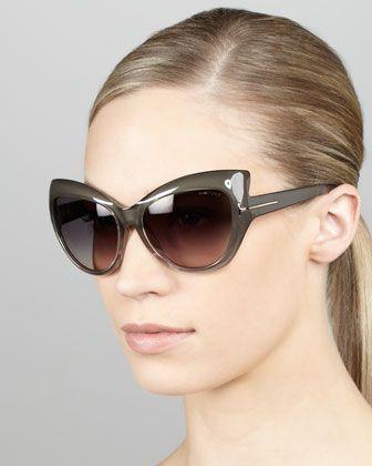 e920cbf444 Bardot Sharp Cat-Eye Sunglasses Gray