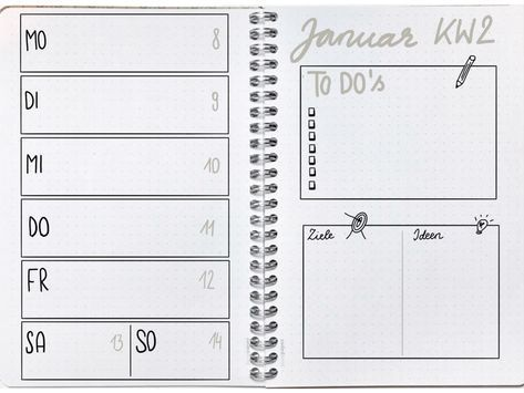 Starte Jetzt Dein Bullet Journal   Bullet Journal And Template