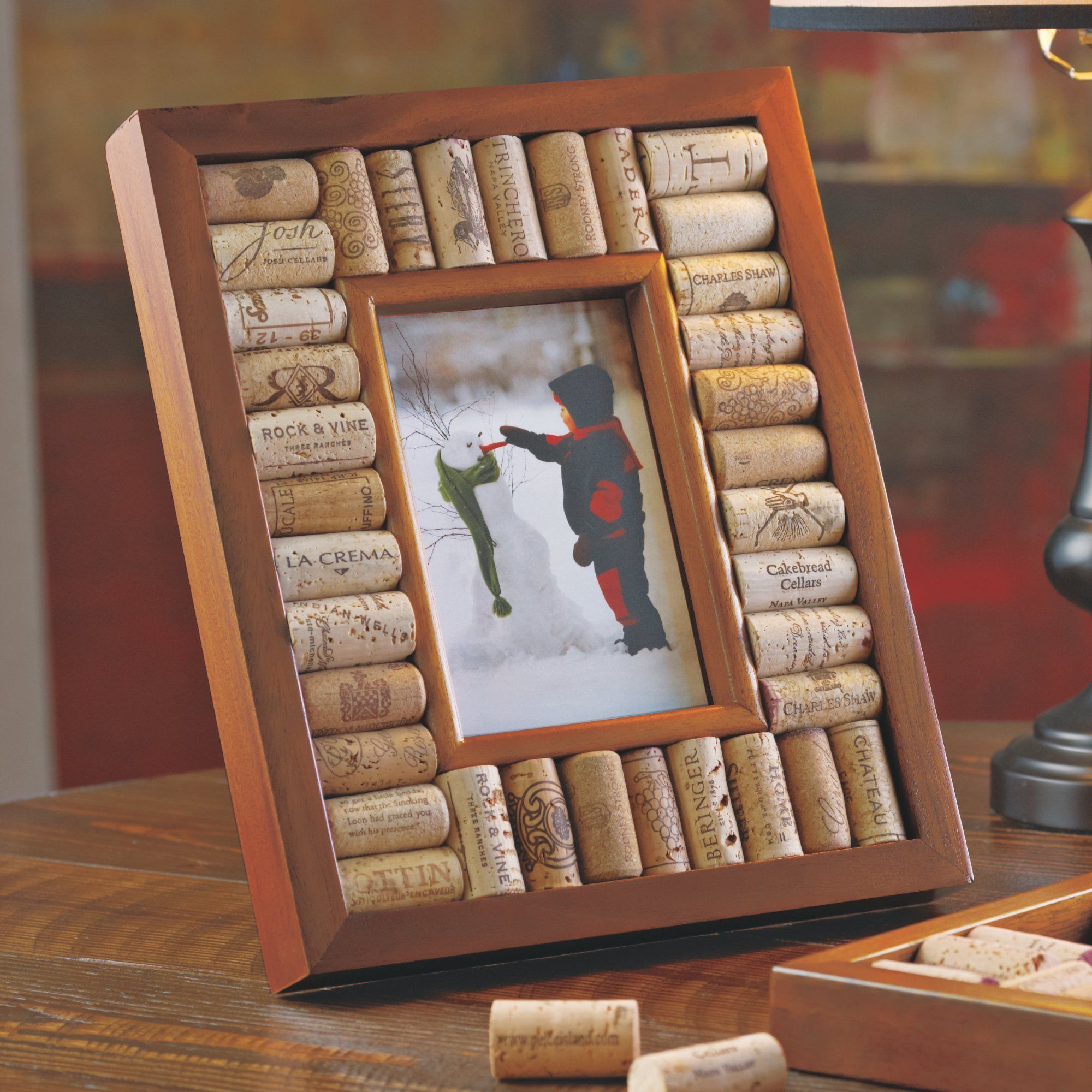 Wine Cork Picture Frame Kit 4x6 Photo Brown Wood Products