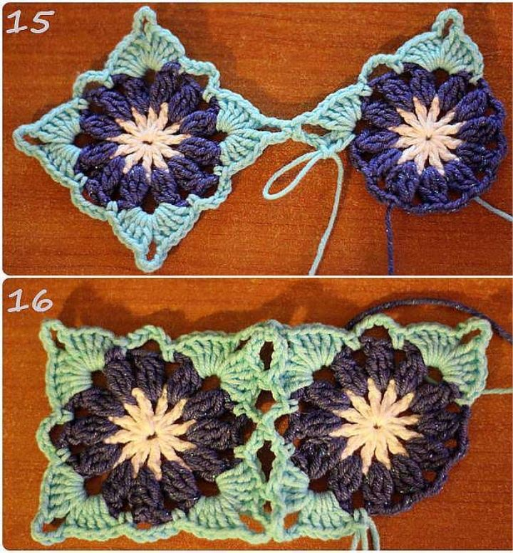 Square Crochet Motif Free Pattern #crochetmotif