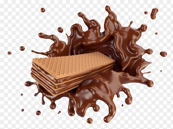 Wafers With Chocolate Splash Png Chocolate Wafer Candy