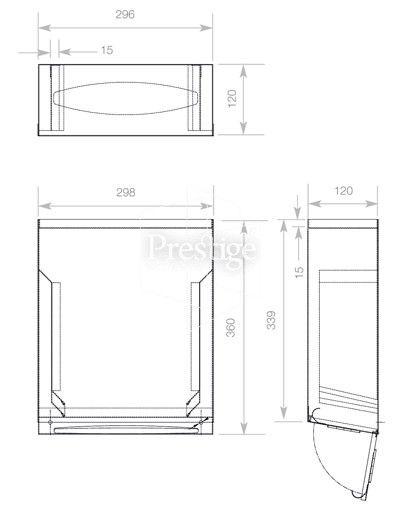 Bathroom Towel Dispenser Plans wp176 prestige behind mirror paper towel dispenser cad drawing