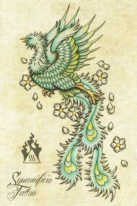 squame phoenix fenice squamificio tattoo