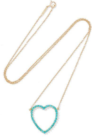18-karat Gold Turquoise Necklace - one size Jennifer Meyer ToNgeMsrF