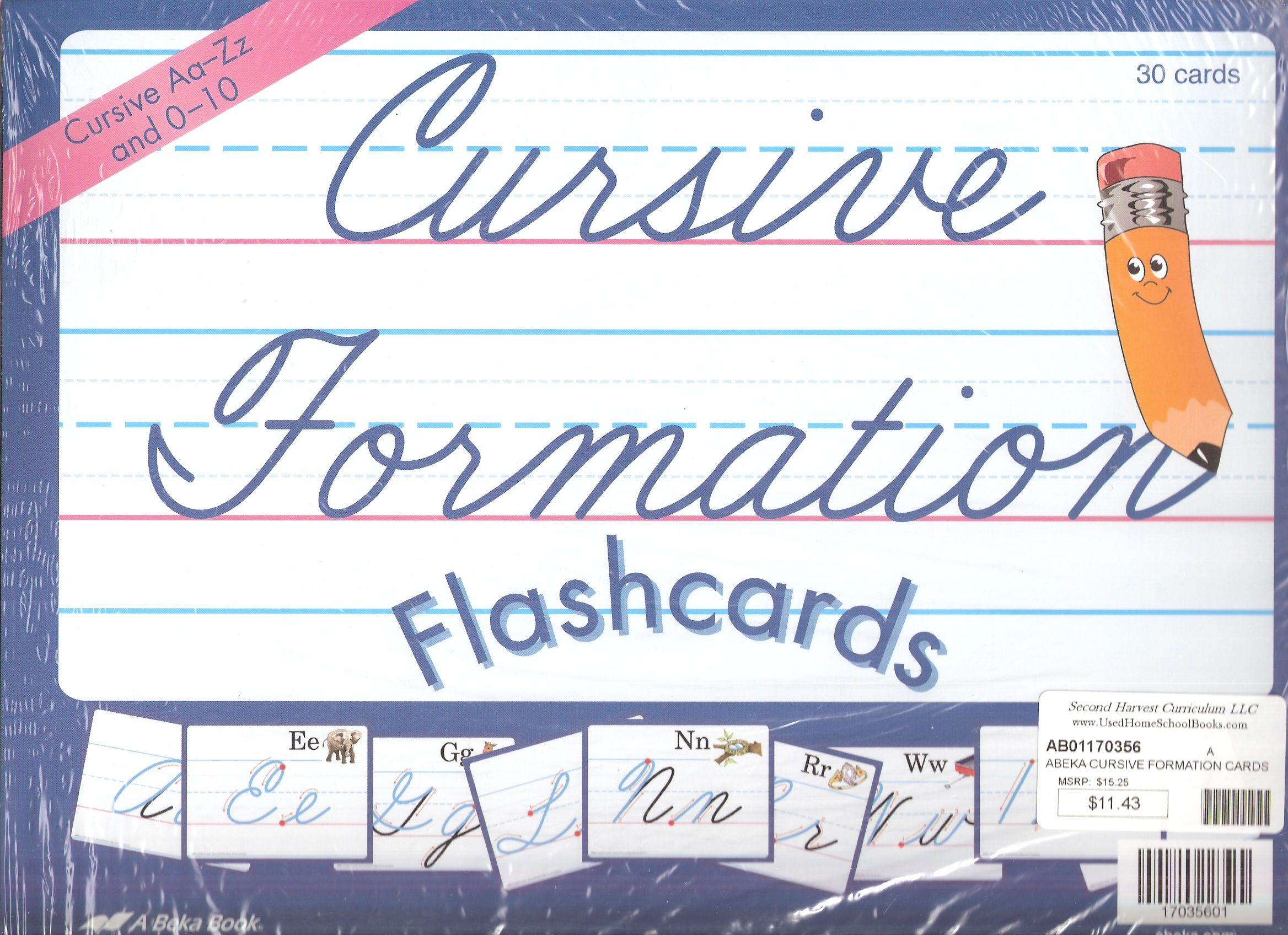 Abeka Cursive Formation Cards Item Ab Price