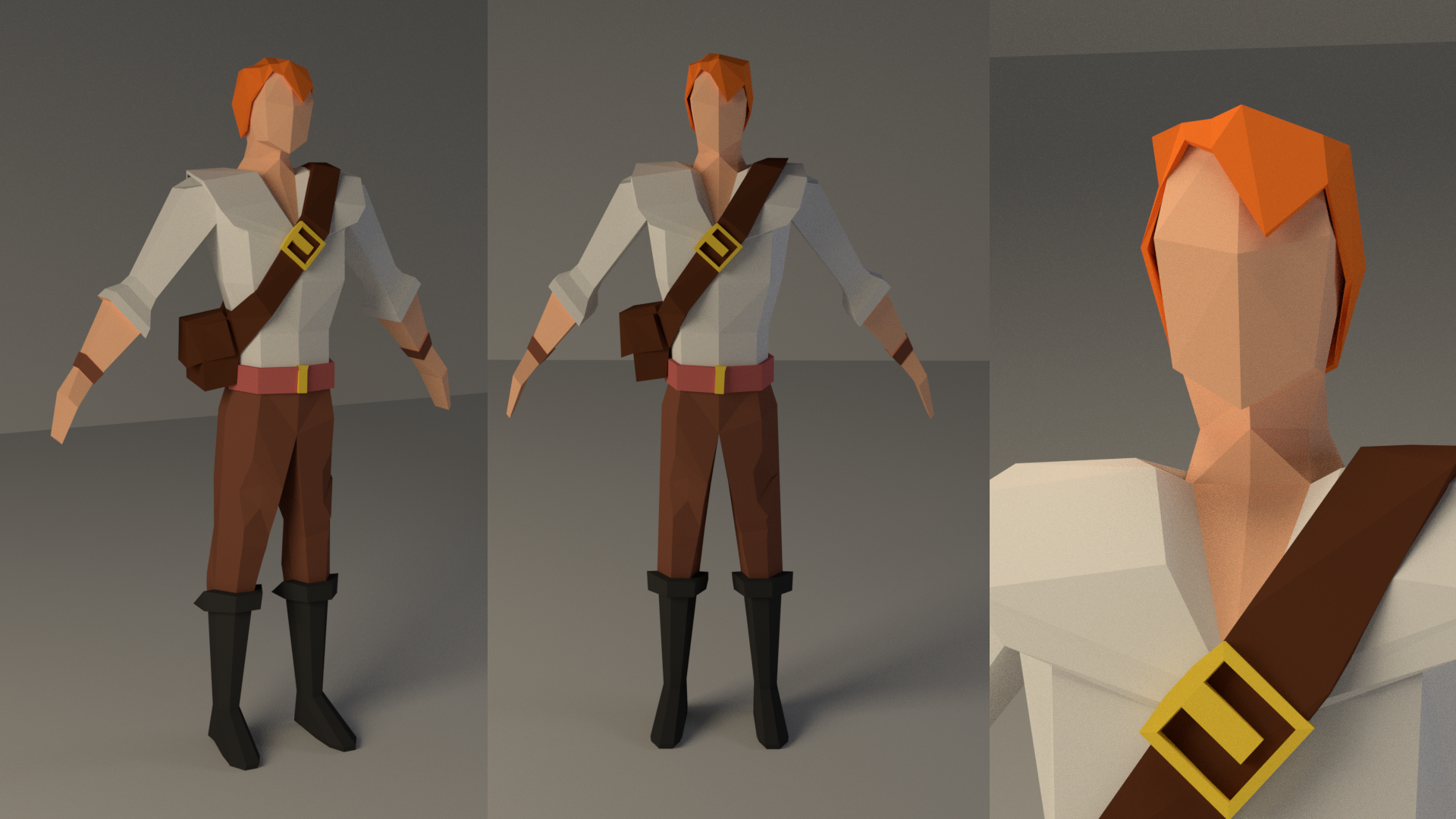 Pin by Brandon Hill on Low Poly Low poly character, Low