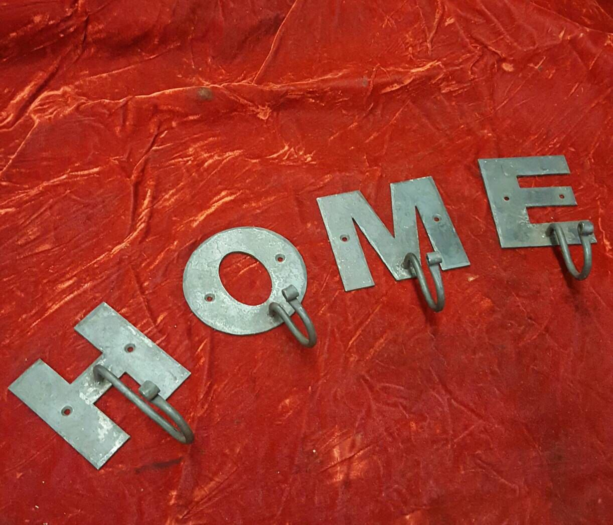 Custom wrought iron letter hooks Lettering, Wrought iron