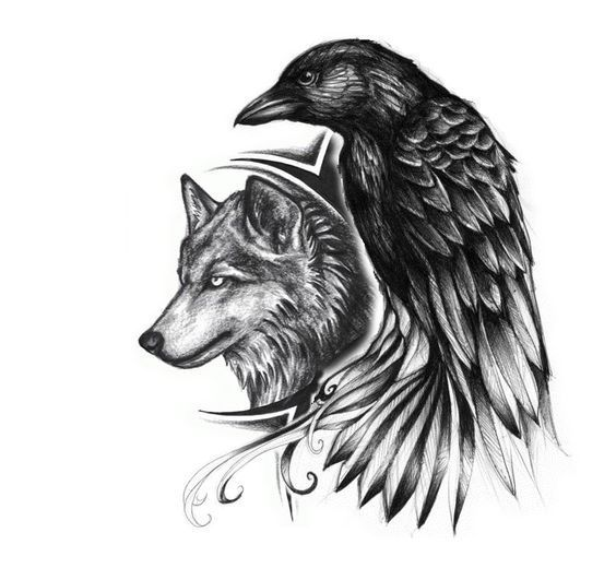 Image Result For Odin Raben Wolf Tattoo Ideen