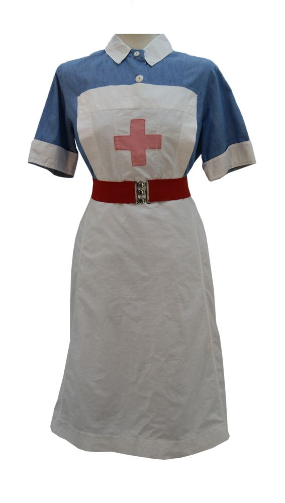 30s 40s nurse style costume RED CROSS VAD NURSE complete custom made any size