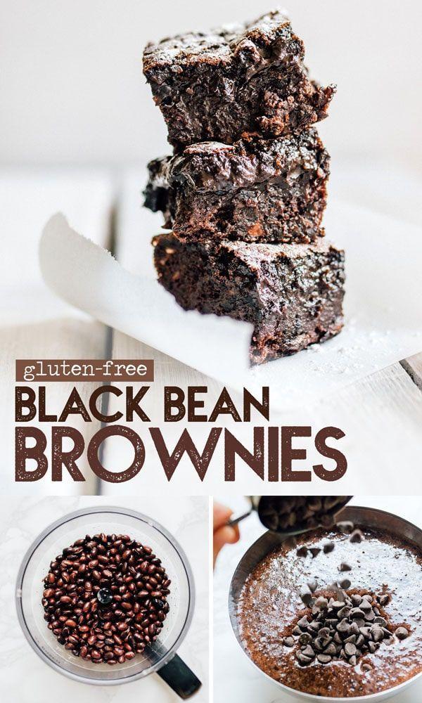 Gooey Black Bean Brownies (glutenfrei, superfeucht) Gooey Black Bean Brownies (glutenfrei, superfeu