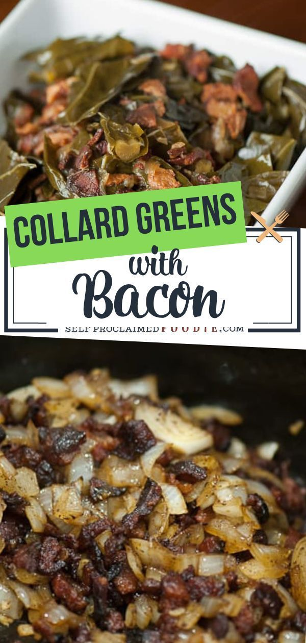 Photo of Collard Greens with Bacon | Self Proclaimed Foodie