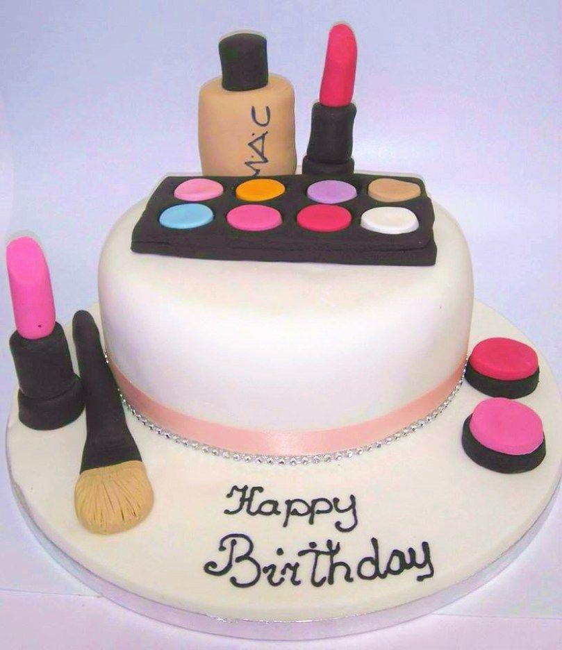 30 Beautiful Image Of Gluten Free Birthday Cakes Mac Make Up Cake Mannings Bakery HappyBirthdayCakes