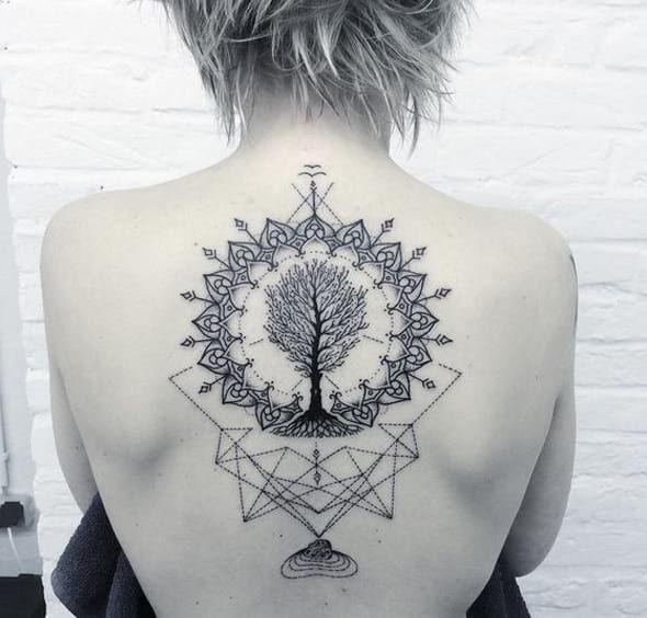 Tree Of Life Mandala Tattoo Inspirational Tattoos Life Tattoos Trendy Tattoos