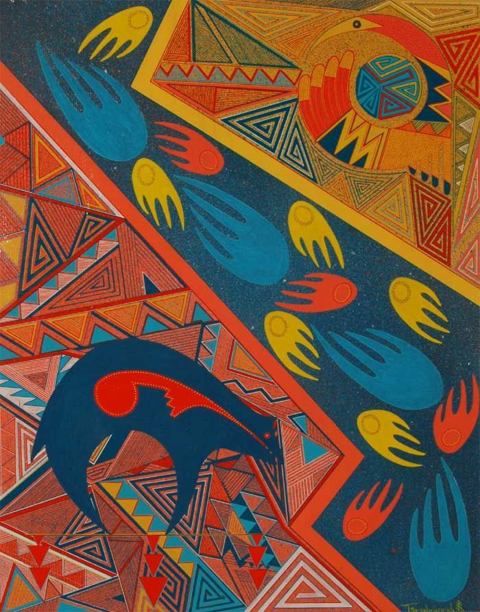 Native American Contemporary Paintings Fine Art Native