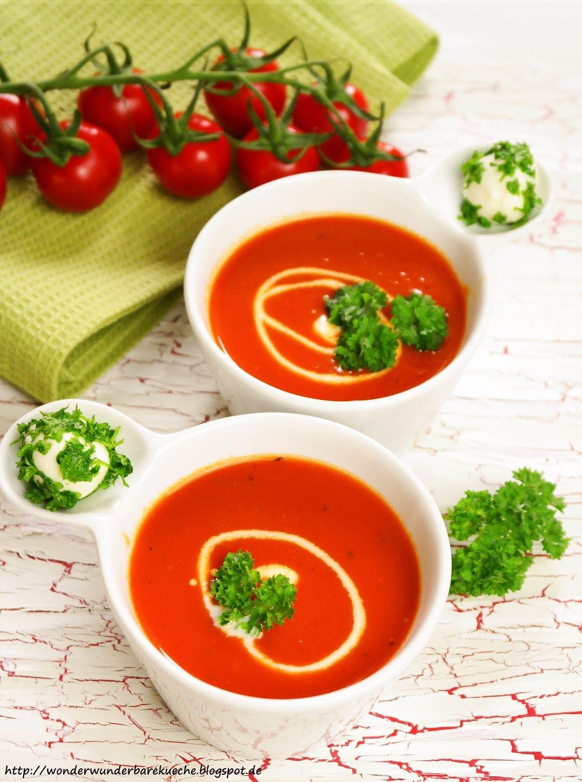 Tomatensuppe Brigitte selbstgemachte tomatensuppe tomatencremesuppe aus sonnengereiften