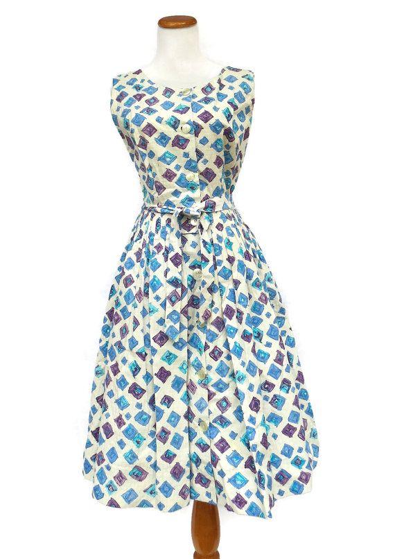 50s Sundress / 1950s Sundress / 50s Day Dress / by GoodLuxeVintage