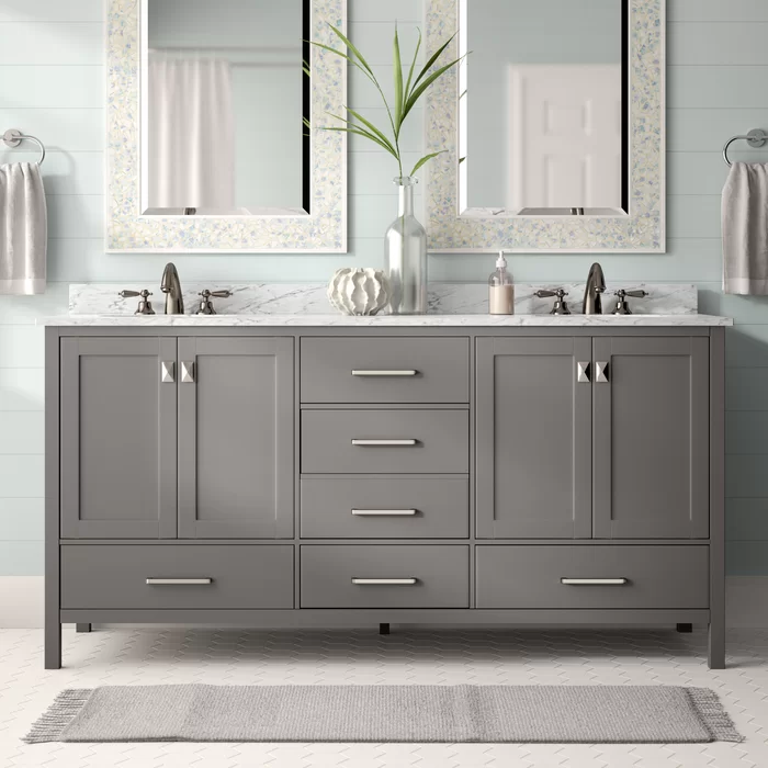 Newtown 72 Double Bathroom Vanity Set With Images Double