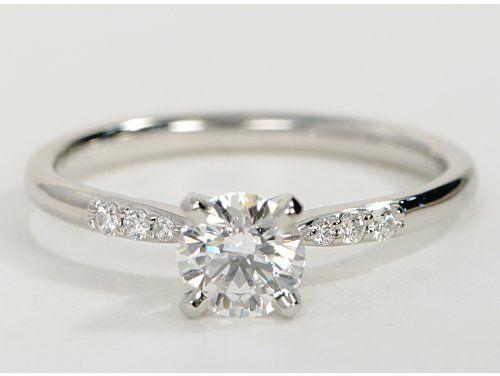 Pee Diamond Engagement Ring In Platinum 1 10 Ct Tw